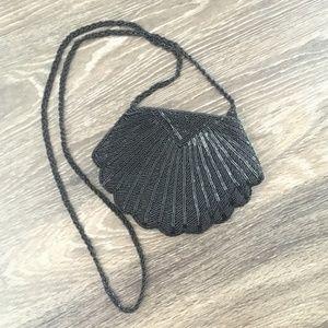 Vintage Style Beaded Crossbody Bag